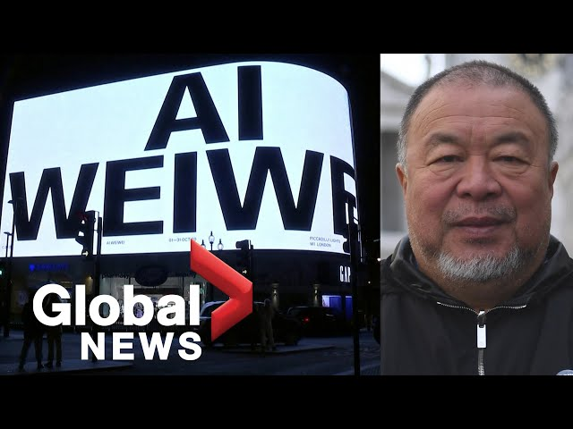 Ai Weiwei's new art work lights up London's Piccadilly Circus