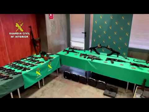An international arms traffickers arrested in Spain, stockpile of weapons, explosives,  Nazi staff
