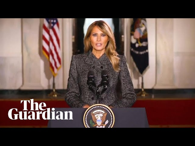 Melania Trump says 'past four years have been unforgettable' in recorded farewell speech
