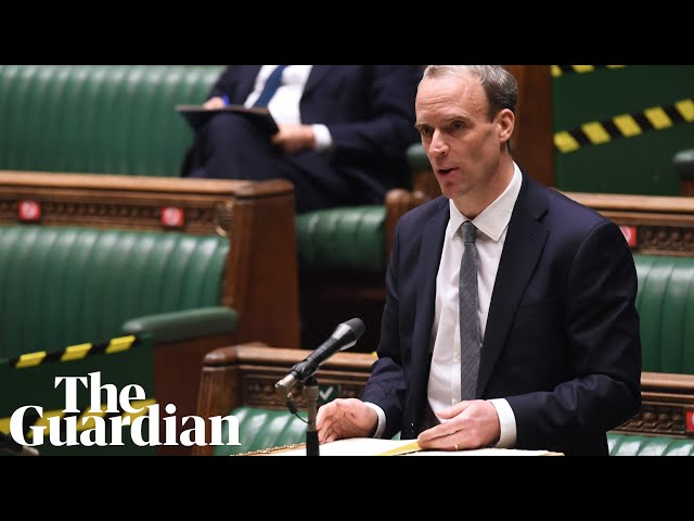 Dominic Raab takes questions from MPs in parliament – watch live