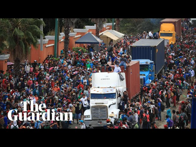 Guatemalan security forces block Honduran migrant caravan heading to US
