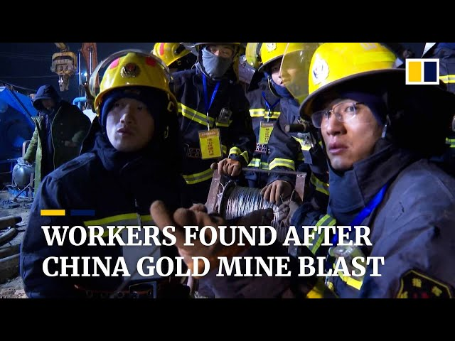 China: 12 trapped workers alive after gold mine blast in Shandong province
