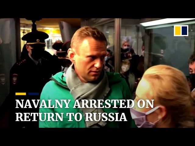 Kremlin critic Alexei Navalny arrested and detained upon return to Russia after near-fatal poisoning
