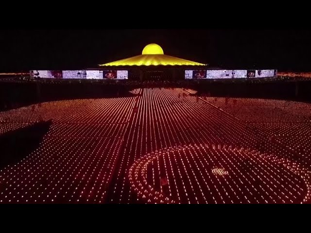 Thai temple lights 330,000 candles to mark Earth Day