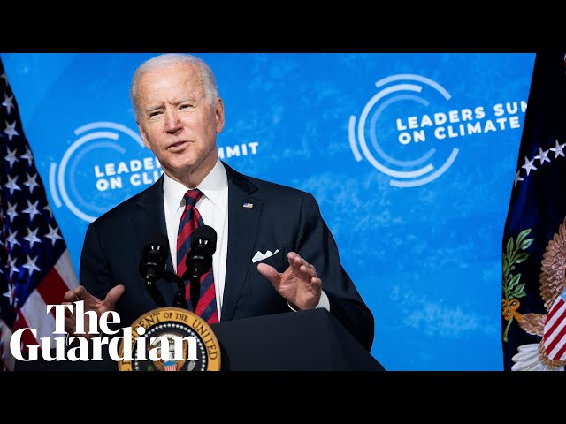 'Existential crisis of our time': Joe Biden pledges to halve US emissions by 2030