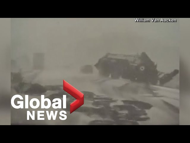 Spring snowstorm causes massive vehicular pileup in Wisconsin