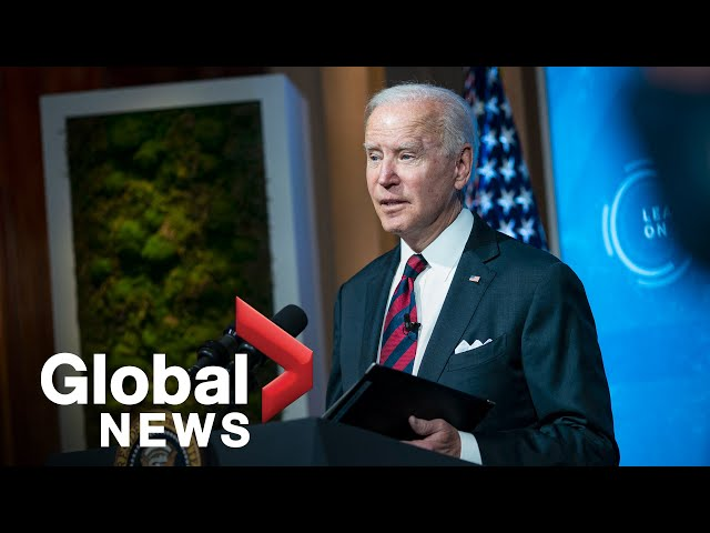 "Biden, Putin, and other leaders pledge ""more ambitious"" action on climate change 