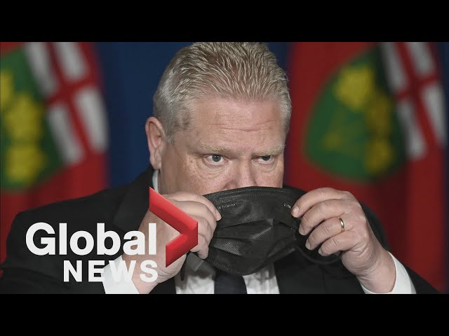 Ontario Premier Doug Ford pledges paid sick leave amid plummeting popularity