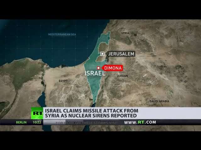 Israel claims missile attack from Syria as nuclear sirens reported