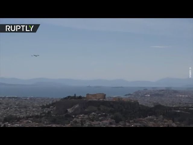 Iniochos 2021 | Fighter jets fly over Acropolis as part of intl drills
